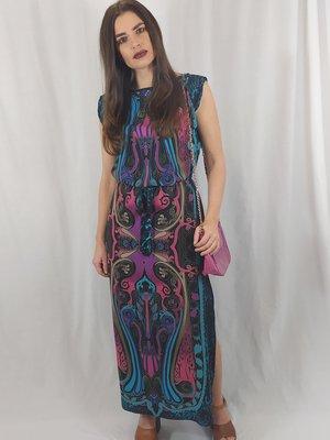 New Look Maxi jurk - zwart patroon split