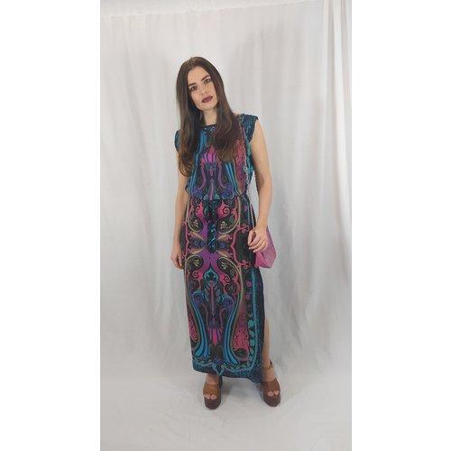 New Look Maxi dress - black pattern split