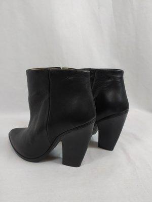 H&M Leren enkellaarzen - zwart