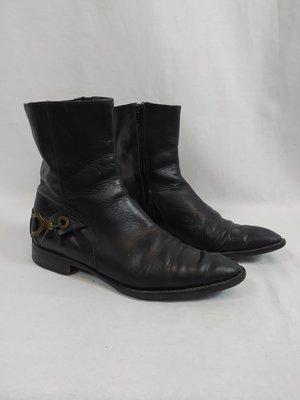 Handmade Handgemaakte leren laarzen - zwart (37)