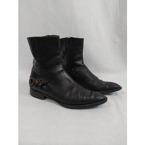 Handmade Handgemaakte leren laarzen - zwart
