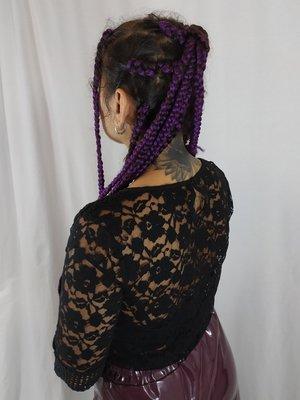 Mango Lace blouse - black