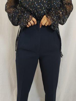 Zara High-waist trousers - dark blue