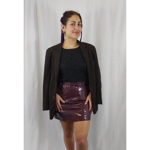 Monki Shiny skirt - aubergine