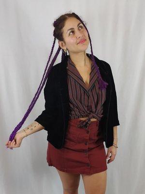 Monki Short skirt - aubergine buttons