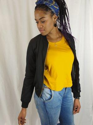 Zara Trafaluc Ochre yellow T-shirt - basic