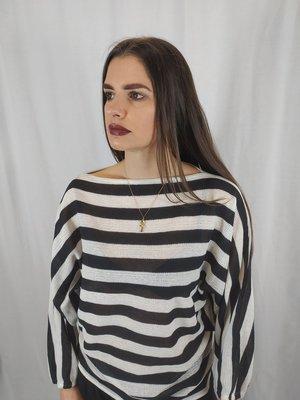 Jon woods Striped sweater - black and white