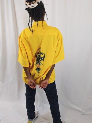 Vintage Vintage blouse - geel 90's
