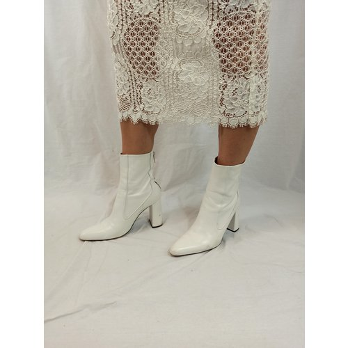 Zara Retro boots - white heel (39)