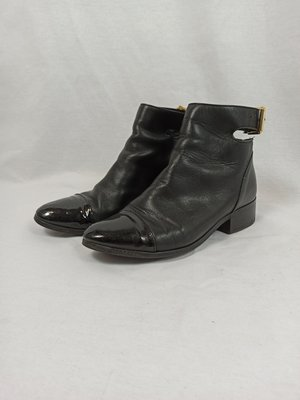H&M Ankle boots - black buckle (36)