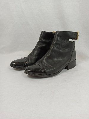 H&M Enkellaarsjes - zwart gesp (36)