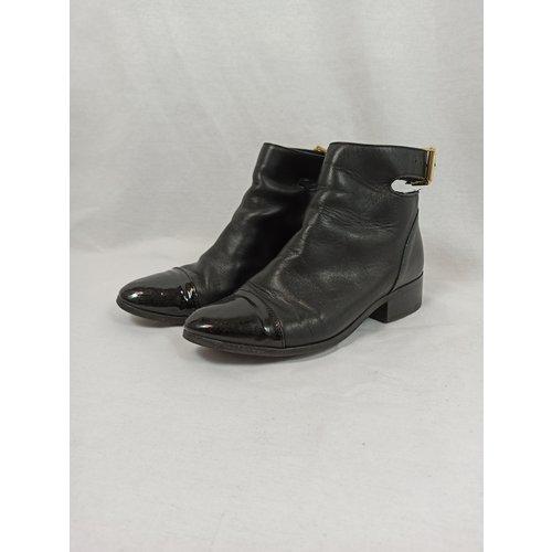 H&M Enkellaarsjes - zwart riem (36)
