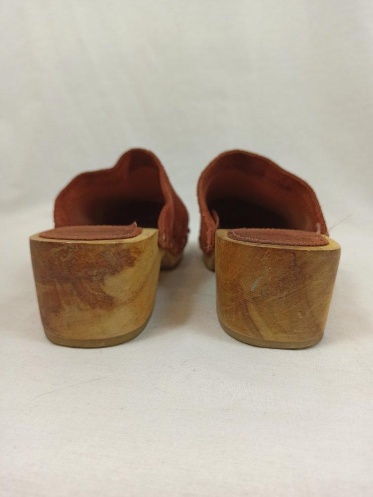 Mango Retro wooden clogs - copper suède (38)