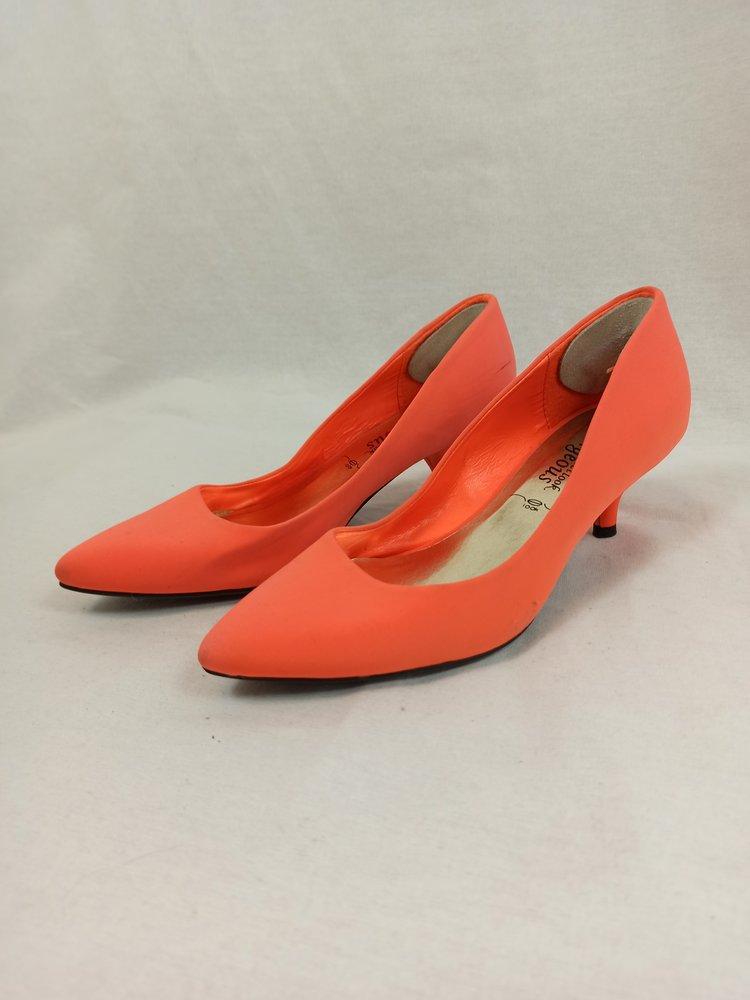 New Look Neon low pumps - oranje (36)