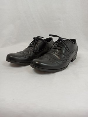 Clarks Leather lace-up shoes - black low heel (36)