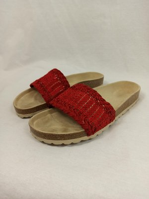 Oysho Woven slippers - red (39)