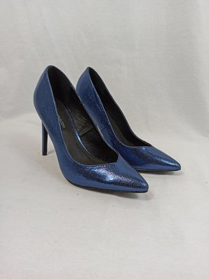 Even & Odd Metallic pumps - blauw (39)