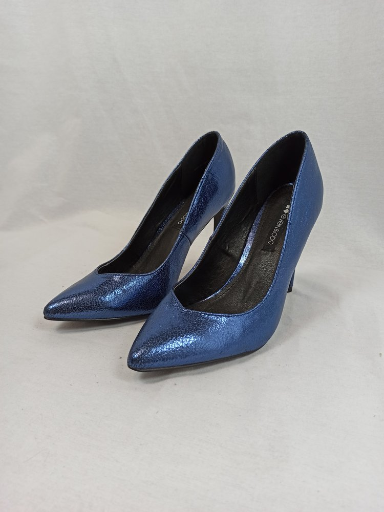 Even & Odd Metallic pumps - blue (39)