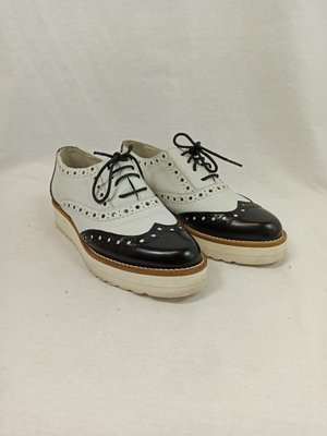 Jonak Black and white Oxford shoes (37)