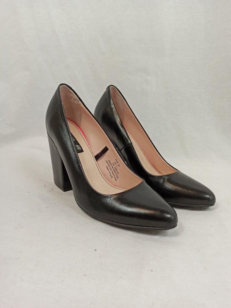 H&M Leather pumps - black heel (36)