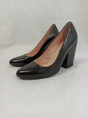 H&M Leren pumps - zwart hak (36)