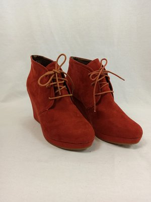 Cube Suede wedges boots - red (39)