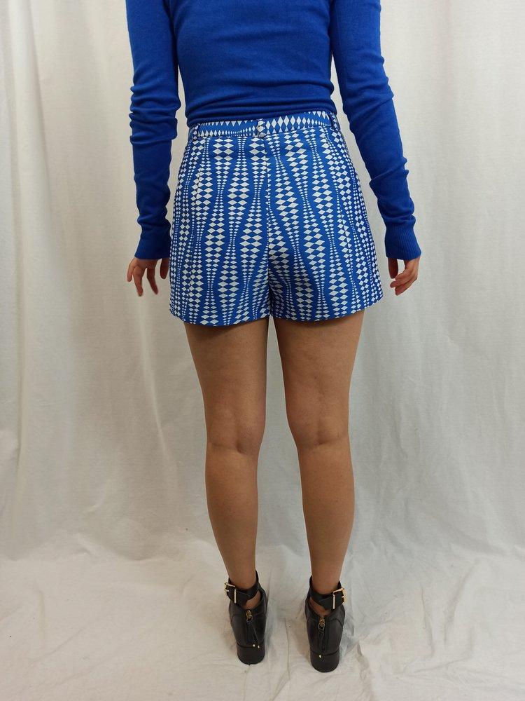 River Island Geometric print shorts - blauw wit
