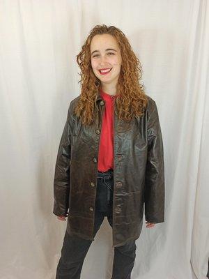 Vintage Vintage patent leather jacket - brown