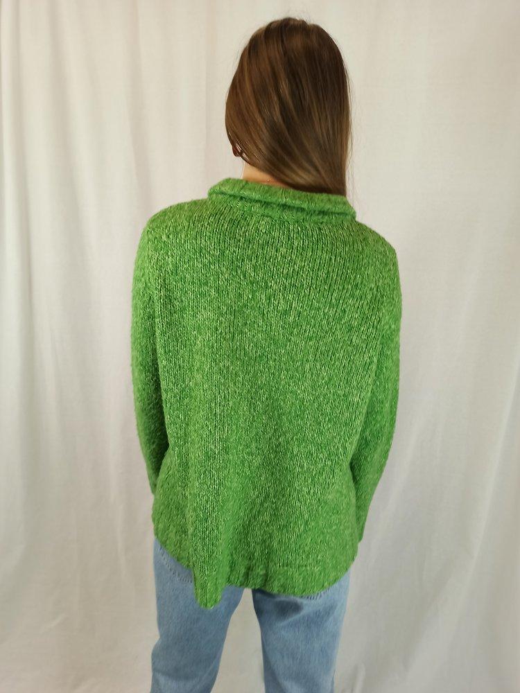 Vintage Vintage wollen vest - groen