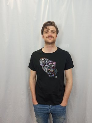Face T-shirt - black