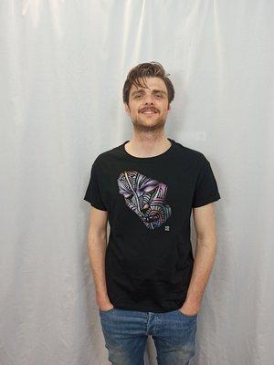 Gezicht T-shirt - zwart