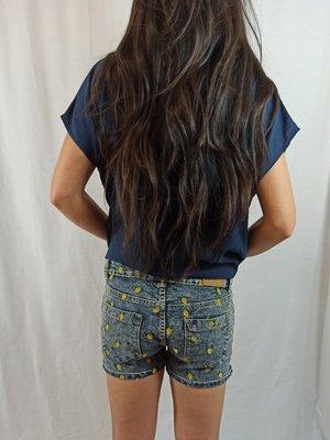 FB sister Ananas denim shorts - blauwe wassing (S)