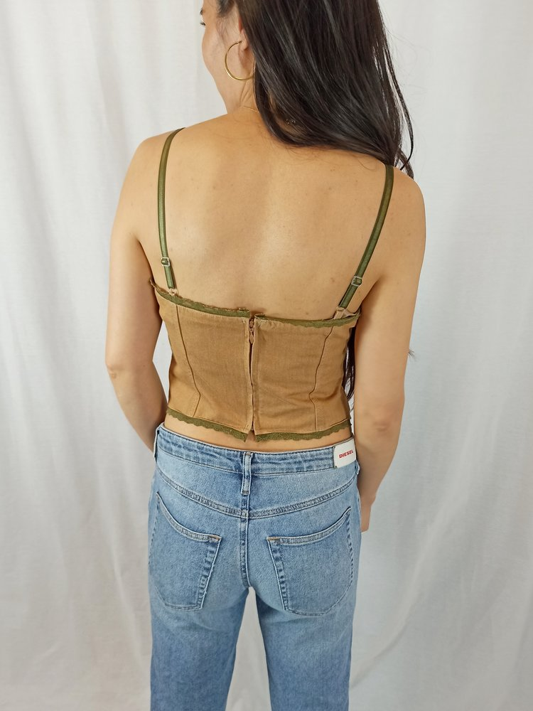 Vintage corset - bruin