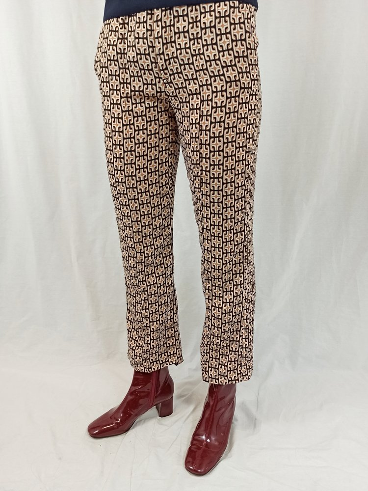 Zara Patroon pantalon - bruin zwart