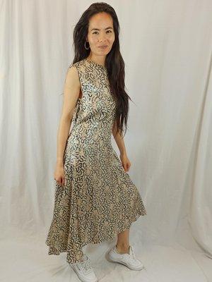 H&M Shiny panther maxi dress - beige