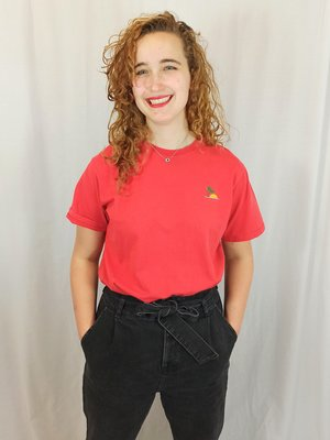 Pull & Bear Palm T-shirt - red