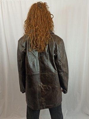 Vintage Vintage lakleren jas - bruin
