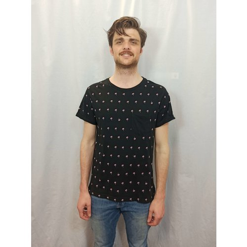 H&M Palmboom T-shirt - zwart