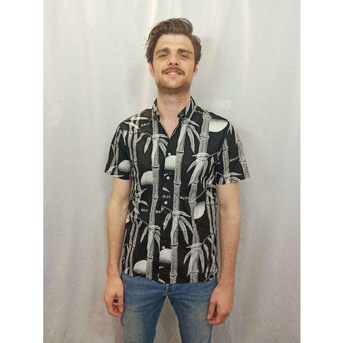 Edwin Bamboe blouse - zwart wit