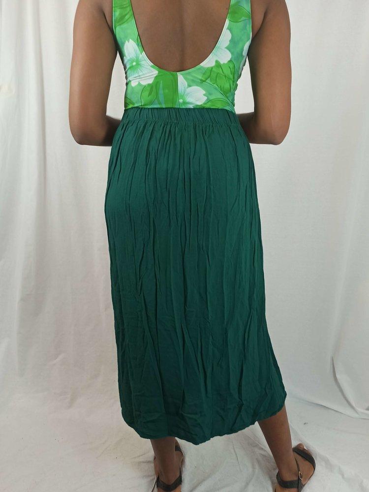 Zara Geplooide midi rok - groen