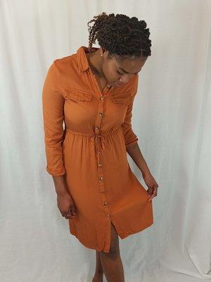 Charlior Knopen blouse jurk - koper
