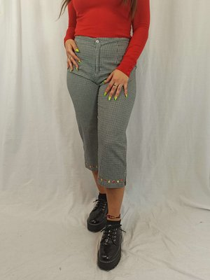 Vintage Geruite tracker pants - bloemenmotief