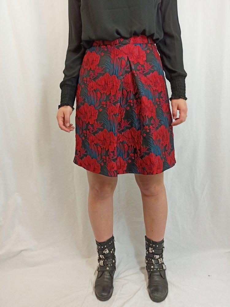 Esprit Bloemenpatroon rok - zwart rood