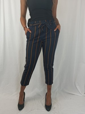 Zara Trafaluc Gestreepte pantalon - blauw bruin