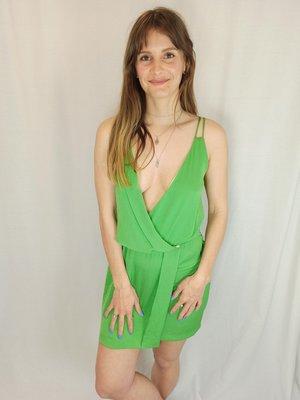 Zara Short wrap dress - bright green