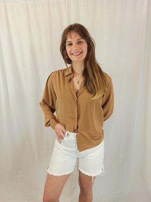 Pull & Bear Long denim shorts - white (S)