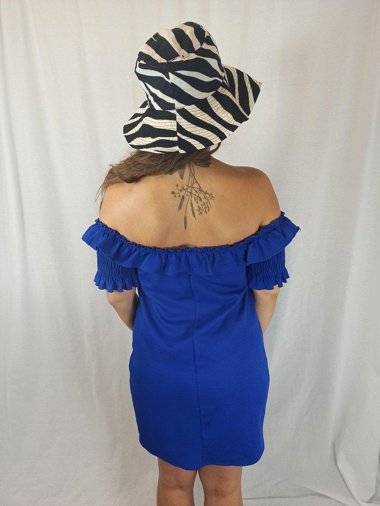 Zara Off-shoulder jurk - blauw