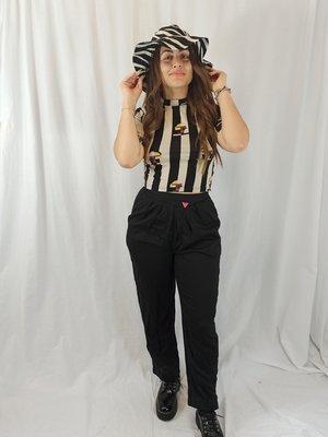 Pants - black pin