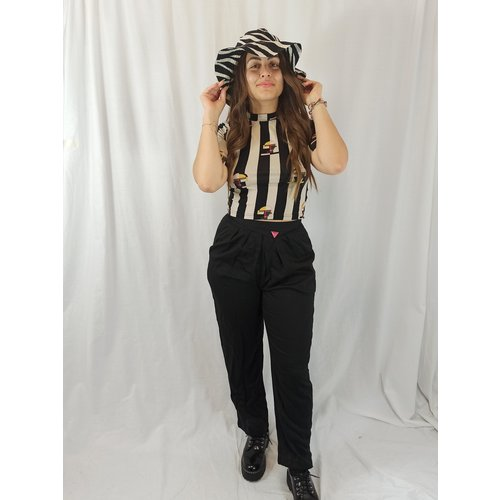 Pantalon - zwart speld