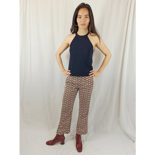 Zara Trousers pattern - brown black